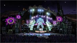 In game image of Guitar Hero III on the Microsoft Xbox 360.