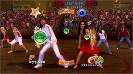 In game image of HSM3 Senior Year DANCE on the Microsoft Xbox 360.