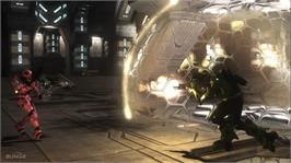 In game image of Halo 3: ODST on the Microsoft Xbox 360.