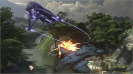 In game image of Halo 3 on the Microsoft Xbox 360.