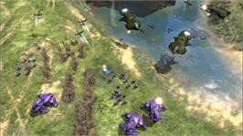 In game image of Halo Wars on the Microsoft Xbox 360.