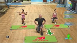 In game image of Harley Pasternaks Hollywood Workout on the Microsoft Xbox 360.