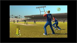 In game image of ICC Cricket 2007 on the Microsoft Xbox 360.