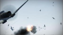In game image of IL-2: Birds of Prey on the Microsoft Xbox 360.