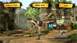 In game image of Jillian Michael's Fitness Adventure on the Microsoft Xbox 360.