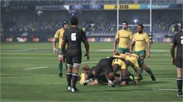 In game image of Jonah Lomu Rugby Challenge on the Microsoft Xbox 360.