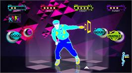 In game image of Just Dance 3 on the Microsoft Xbox 360.