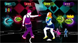In game image of Just Dance Greatest Hits on the Microsoft Xbox 360.