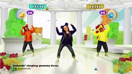 In game image of Just Dance Kids 2 on the Microsoft Xbox 360.