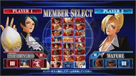 In game image of KOF XII on the Microsoft Xbox 360.