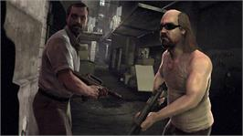 In game image of Kane & Lynch 2 on the Microsoft Xbox 360.