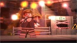 In game image of LEGO Rock Band on the Microsoft Xbox 360.