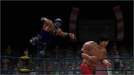 In game image of Lucha Libre AAA on the Microsoft Xbox 360.