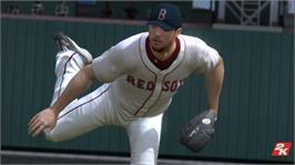 In game image of MLB 2K8 on the Microsoft Xbox 360.