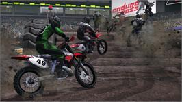 In game image of MX vs. ATV: Untamed on the Microsoft Xbox 360.
