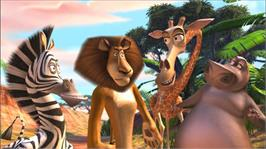 In game image of Madagascar 2 on the Microsoft Xbox 360.