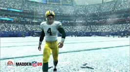 In game image of Madden NFL 09 on the Microsoft Xbox 360.