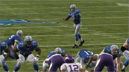 In game image of Madden NFL 10 on the Microsoft Xbox 360.