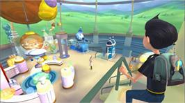 In game image of Meet the Robinsons on the Microsoft Xbox 360.