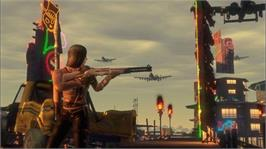In game image of Mercenaries 2 on the Microsoft Xbox 360.