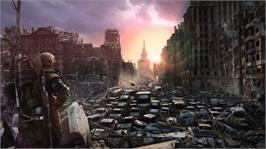 In game image of Metro: Last Light on the Microsoft Xbox 360.