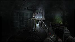 In game image of Metro 2033 on the Microsoft Xbox 360.