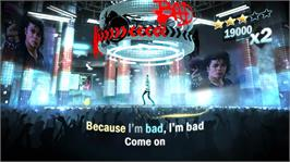In game image of Michael Jackson The Experience on the Microsoft Xbox 360.