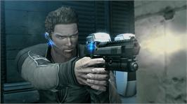 In game image of Mindjack on the Microsoft Xbox 360.