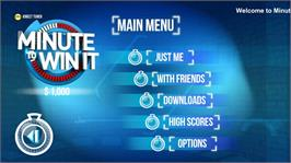 In game image of Minute To Win It on the Microsoft Xbox 360.