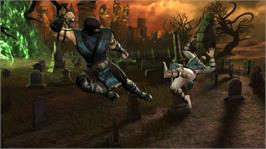 In game image of Mortal Kombat on the Microsoft Xbox 360.