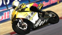 In game image of MotoGP 06 on the Microsoft Xbox 360.