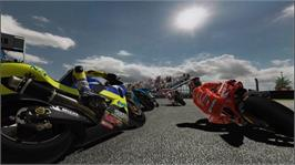 In game image of MotoGP 08 on the Microsoft Xbox 360.