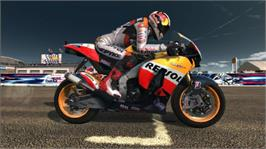 In game image of MotoGP 09/10 on the Microsoft Xbox 360.
