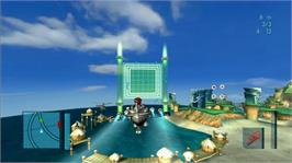 In game image of MySims SkyHeroes on the Microsoft Xbox 360.