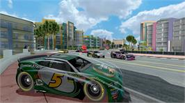 In game image of NASCAR® Unleashed on the Microsoft Xbox 360.