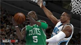 In game image of NBA 2K11 on the Microsoft Xbox 360.