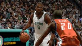 In game image of NBA 2K8 on the Microsoft Xbox 360.