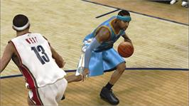 In game image of NBA 2K9 on the Microsoft Xbox 360.