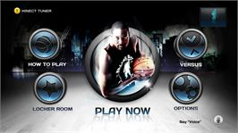 In game image of NBA Baller Beats on the Microsoft Xbox 360.
