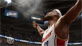 In game image of NBA LIVE 10 on the Microsoft Xbox 360.
