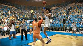 In game image of NCAA® Basketball 09 on the Microsoft Xbox 360.