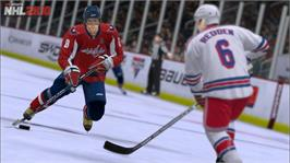 In game image of NHL 2K10 on the Microsoft Xbox 360.