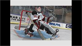 In game image of NHL 2K7 on the Microsoft Xbox 360.