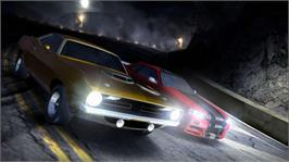In game image of Need for Speed Carbon on the Microsoft Xbox 360.