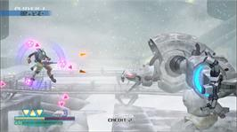 In game image of Omega Five on the Microsoft Xbox 360.
