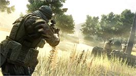 In game image of Operation Flashpoint: Red River on the Microsoft Xbox 360.