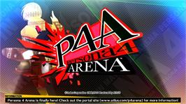 In game image of P4A on the Microsoft Xbox 360.