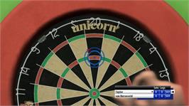 In game image of PDC World Championship Darts: Pro Tour on the Microsoft Xbox 360.