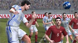 In game image of PES2008 on the Microsoft Xbox 360.