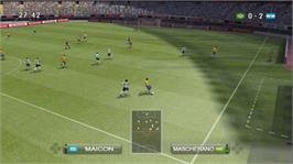 In game image of PES 2009 on the Microsoft Xbox 360.